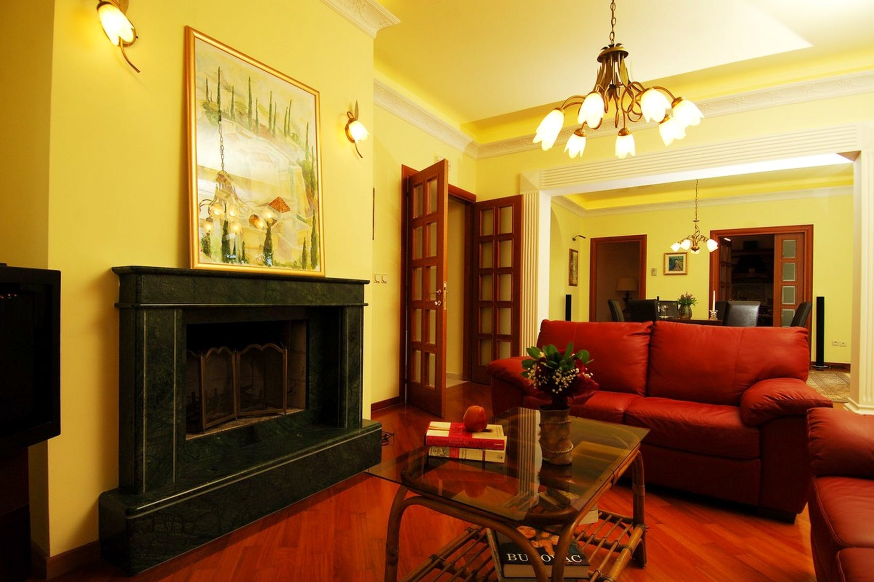 Fully furnished and equipped living area