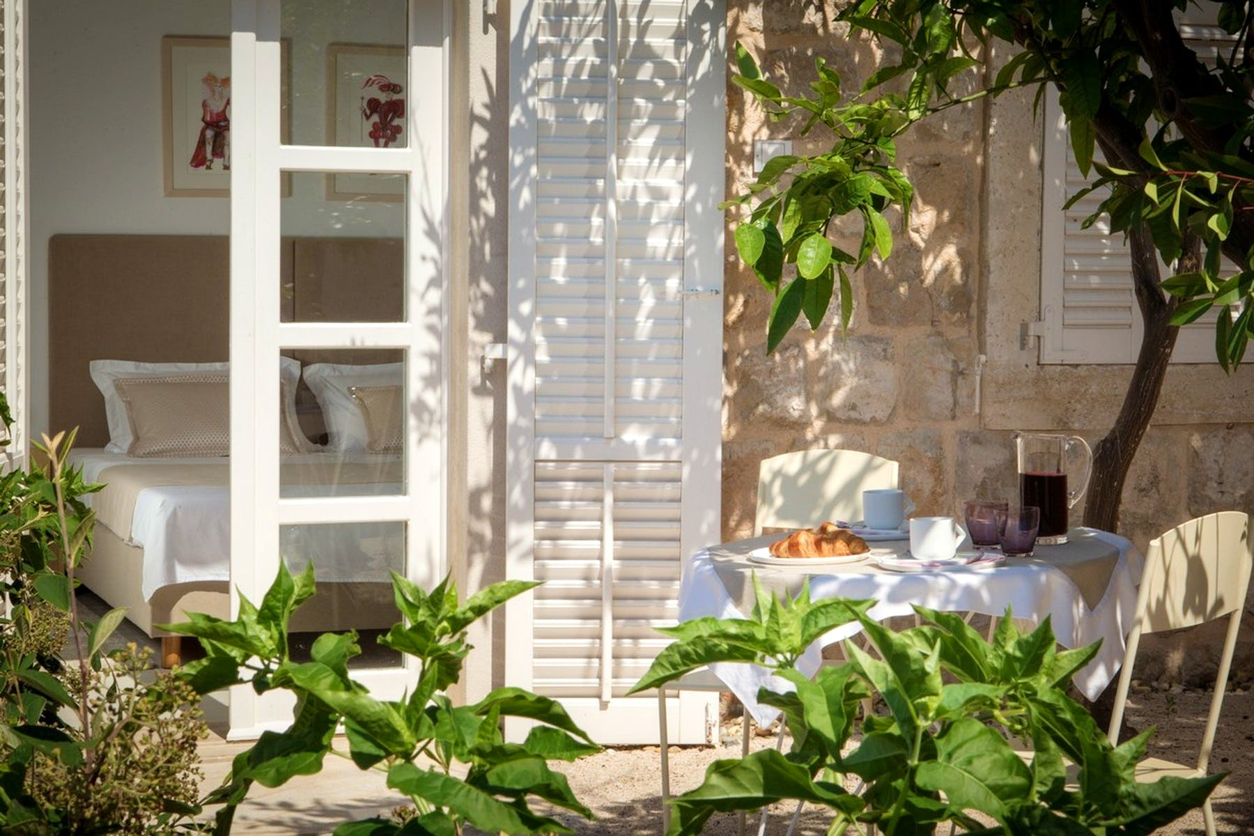 Mediterranean greenary completing the charm of the property