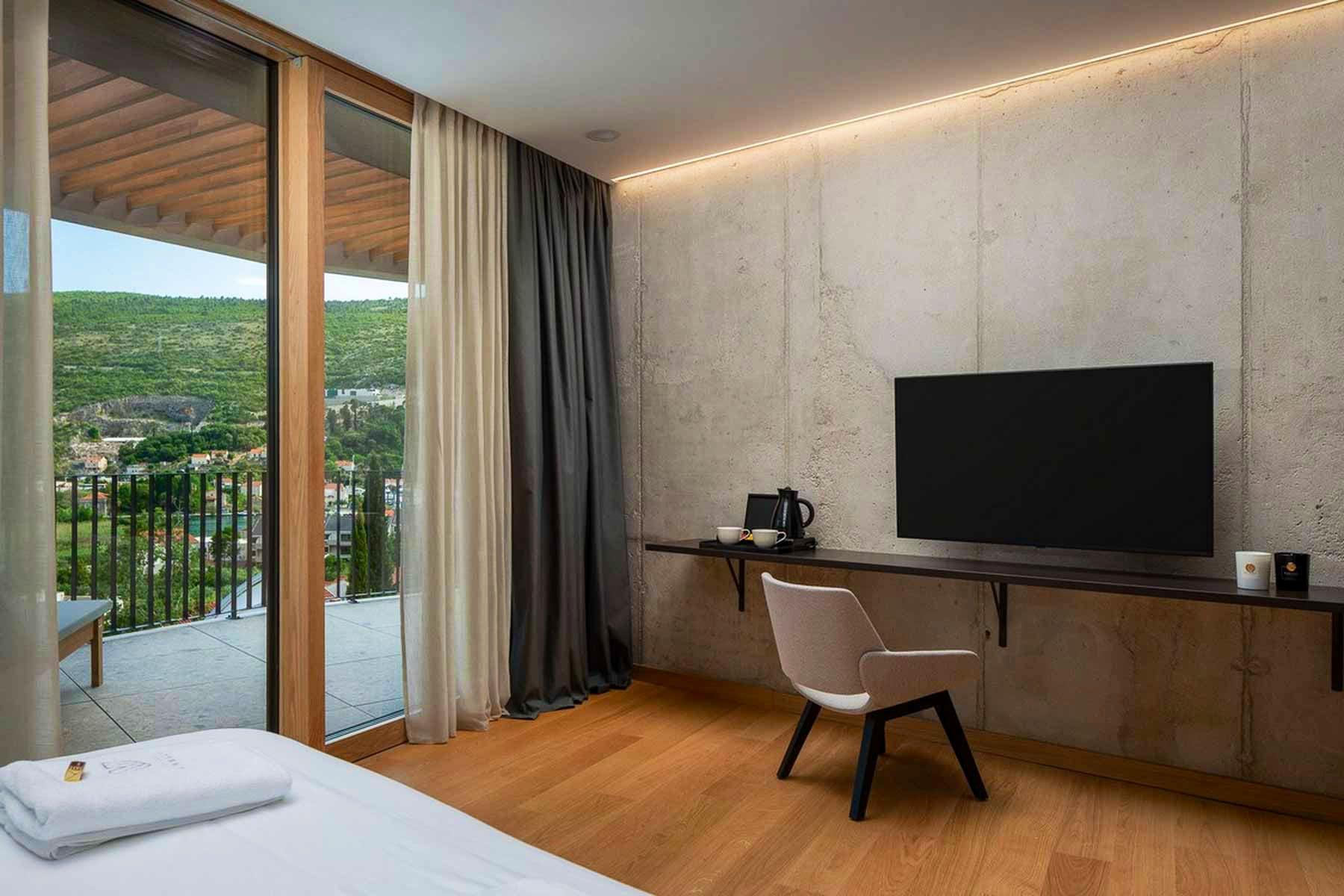 TV area in the bedroom