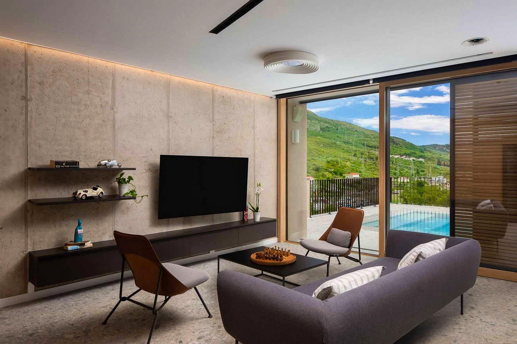 Modern design of the living room