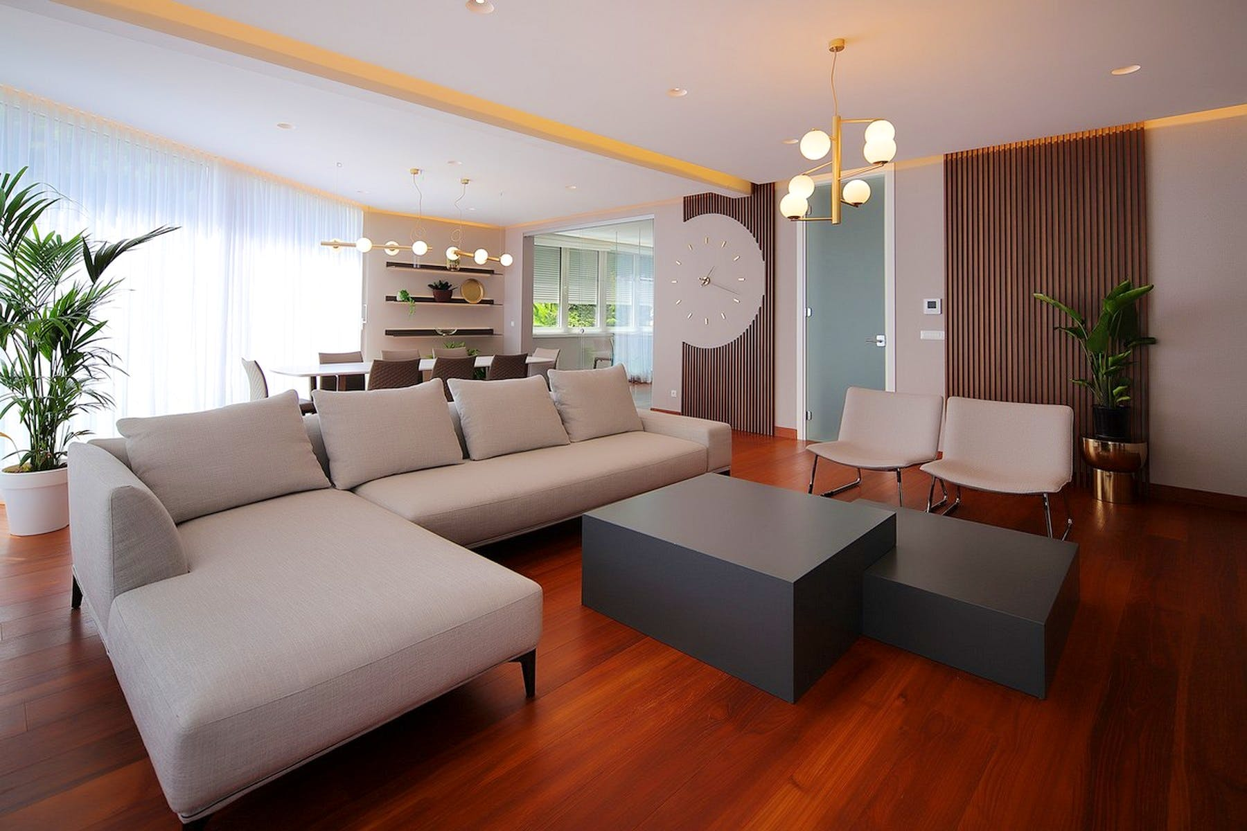 Modernly designed living room
