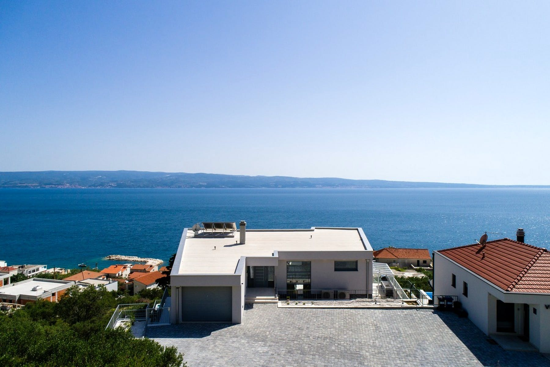 View from the back of the villa