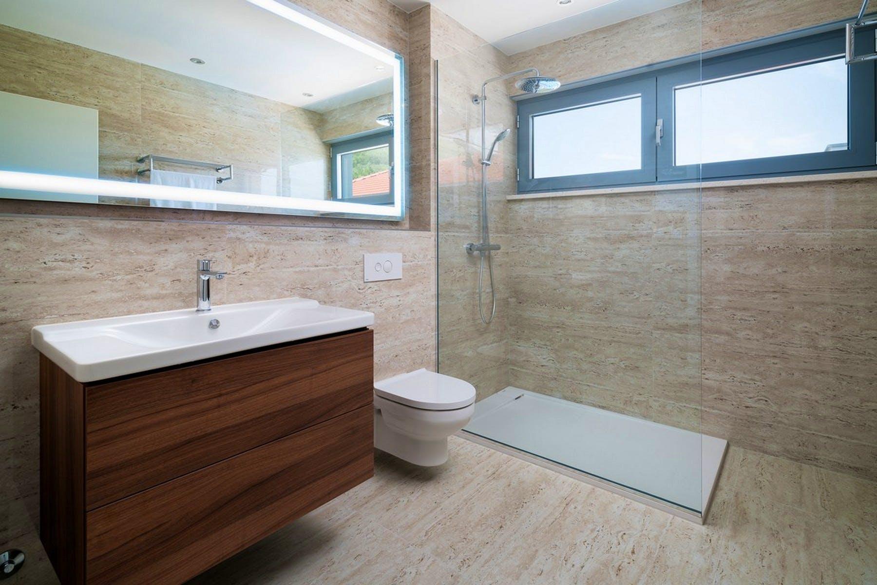 Modernly designed bathroom