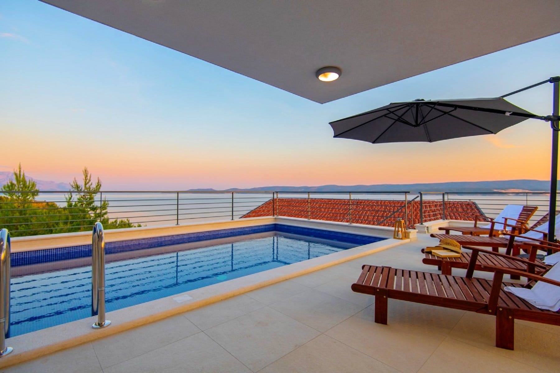 A place to relax and enjoy the view by the pool