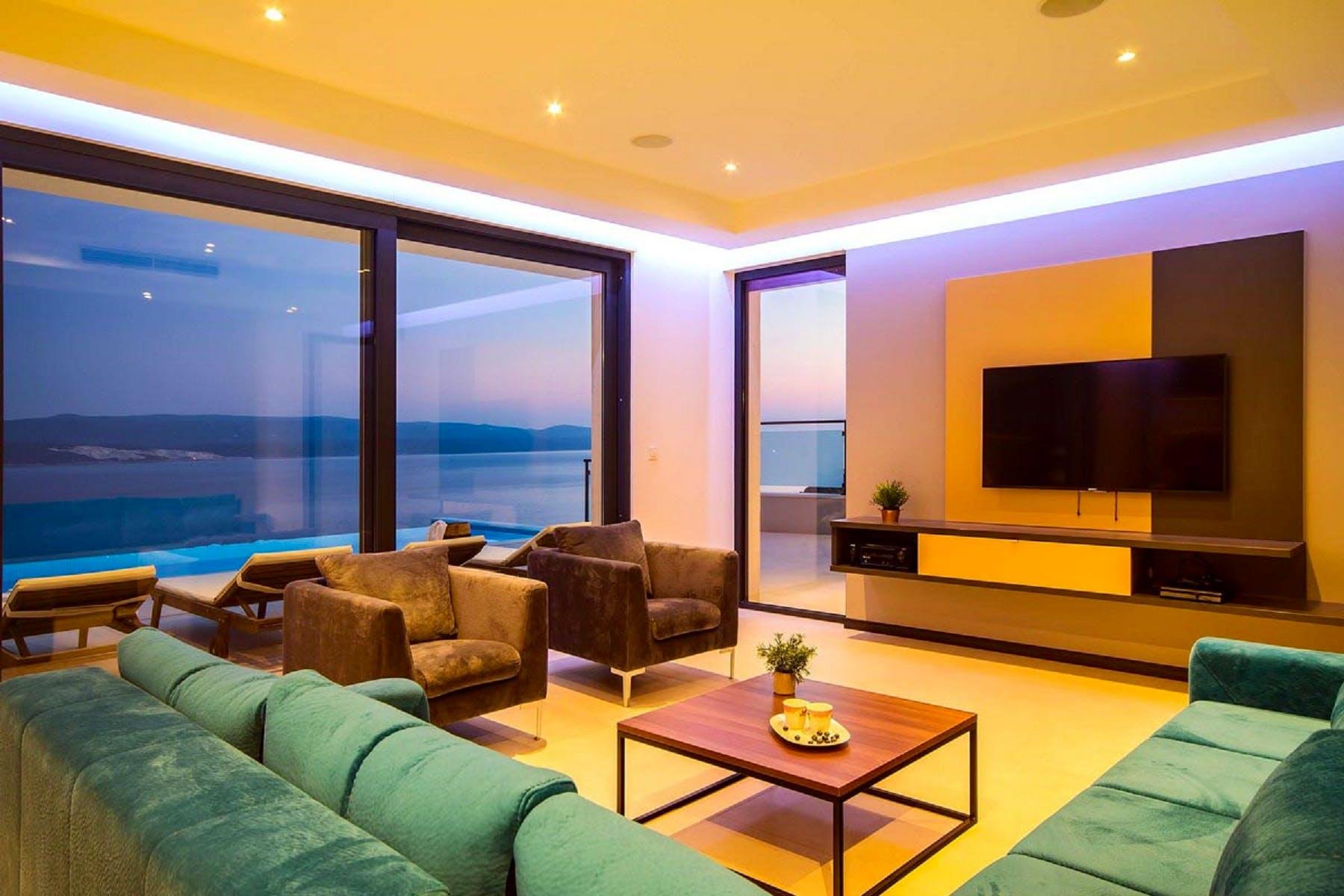 Tastefully designed living room