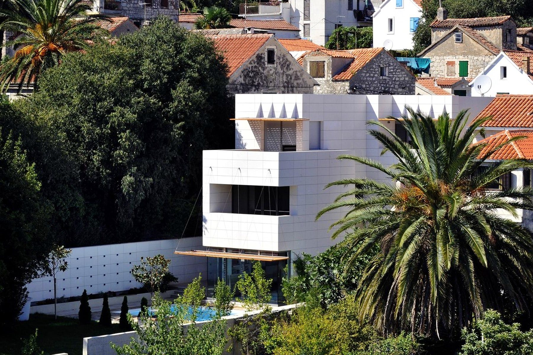 Full view of the villa from a far