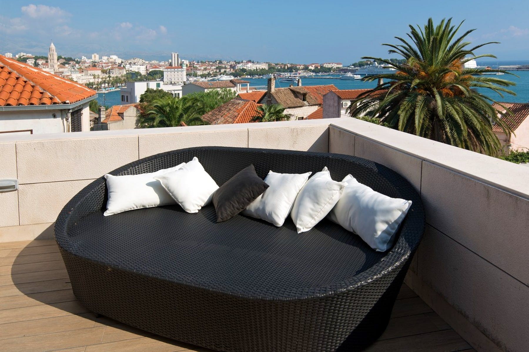 Cozy place for relaxation on the terrace