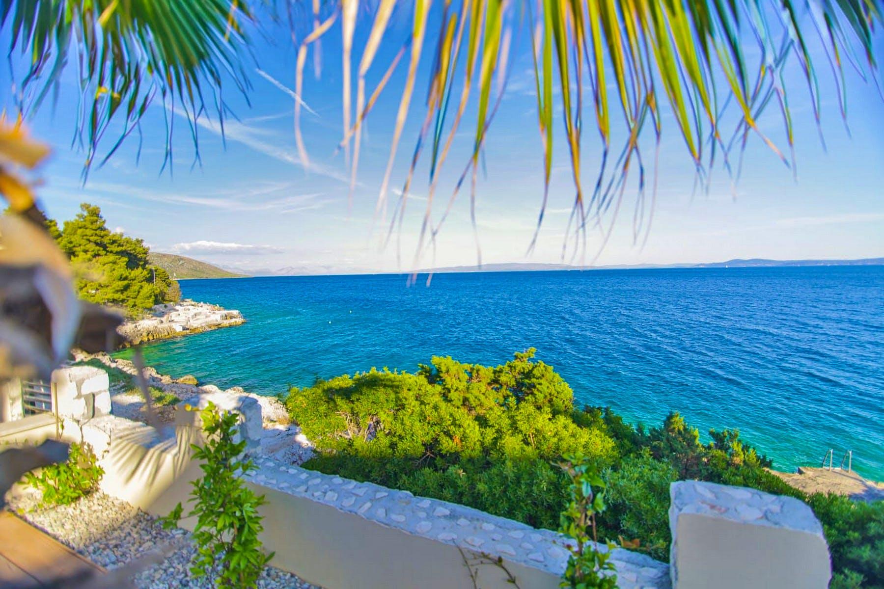 Scenic sea view from the villa