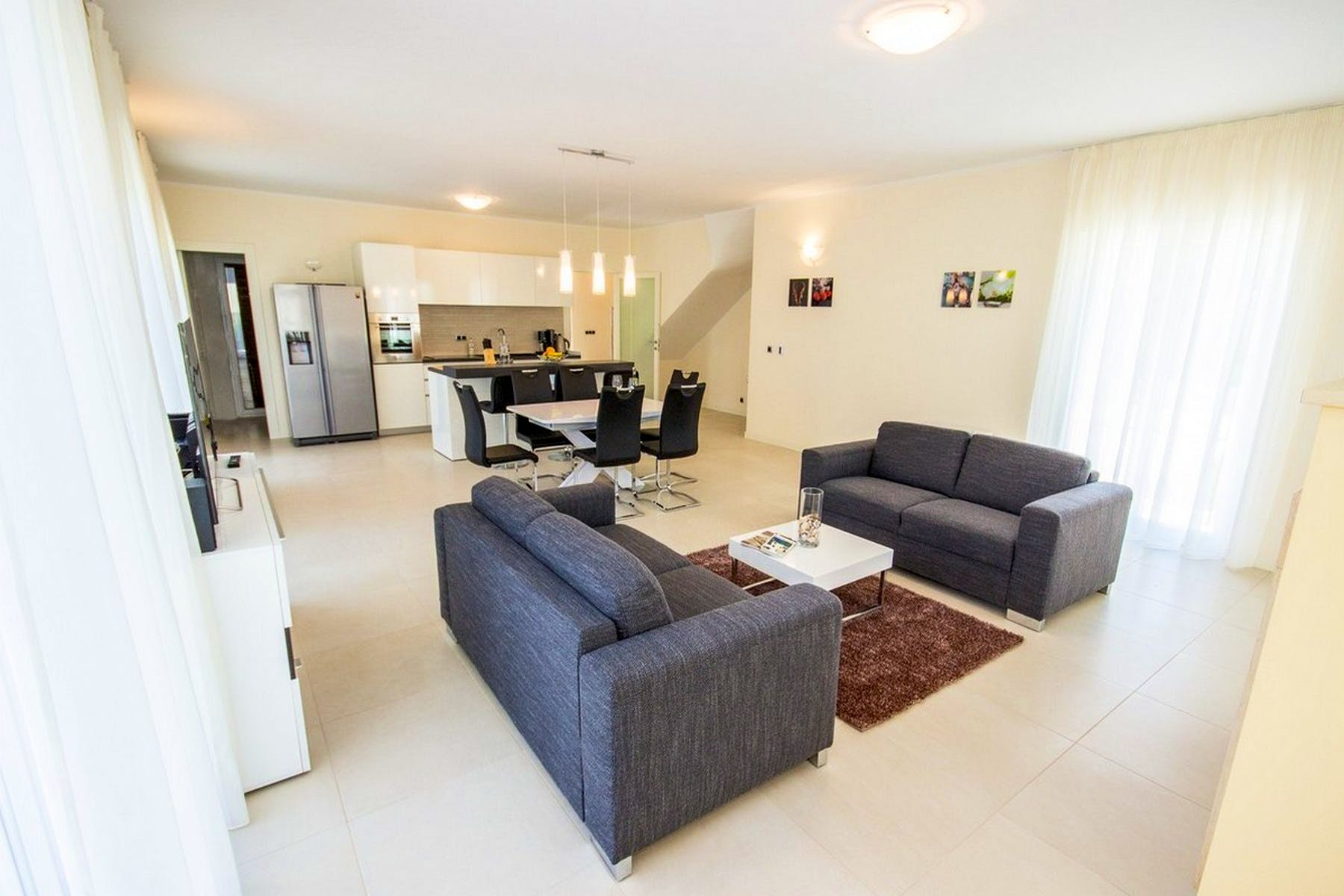 Fully and modernly furnished living room