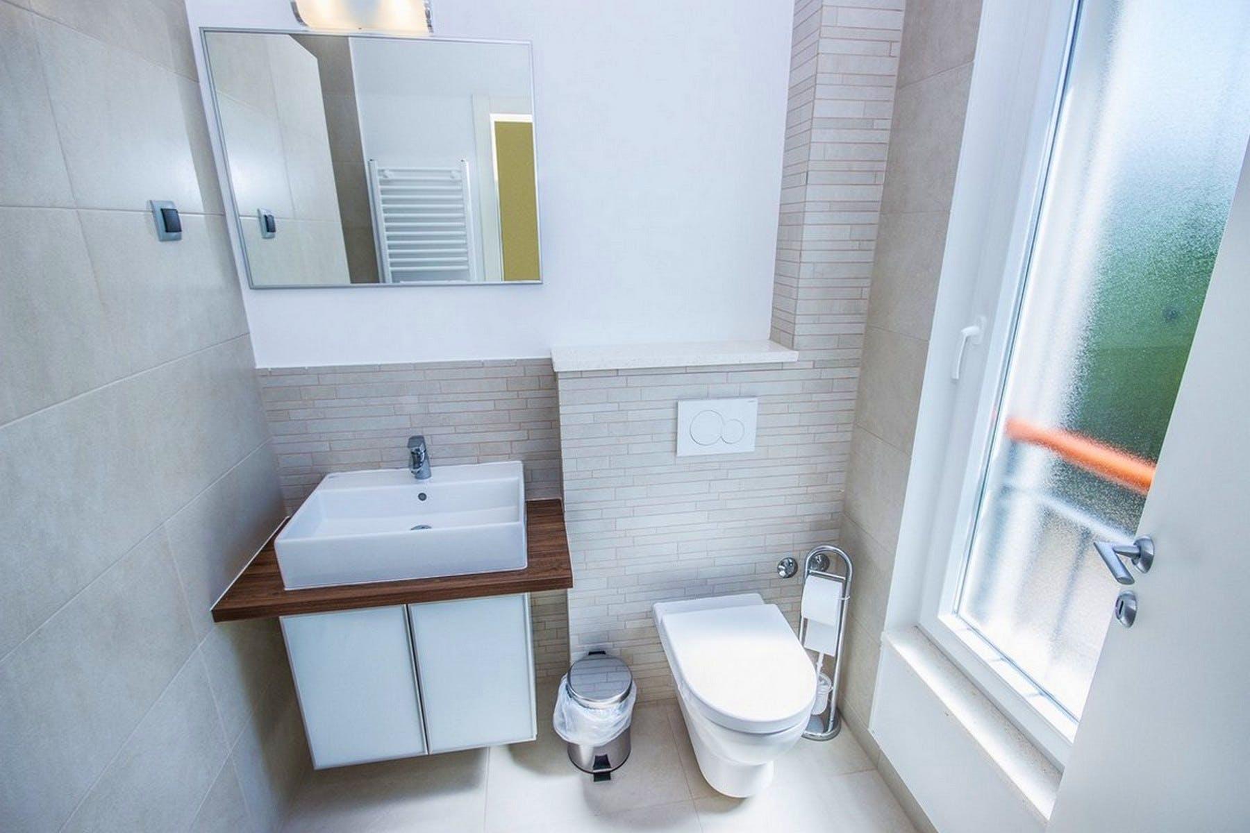 Modern design of the bathroom