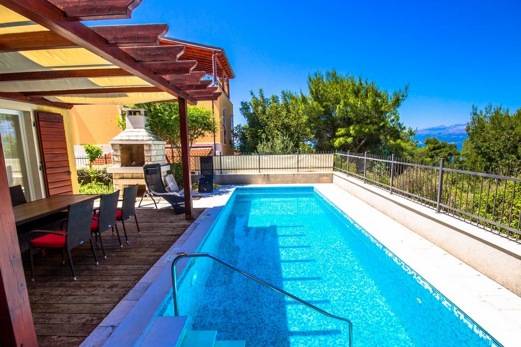 Pool area of the villa