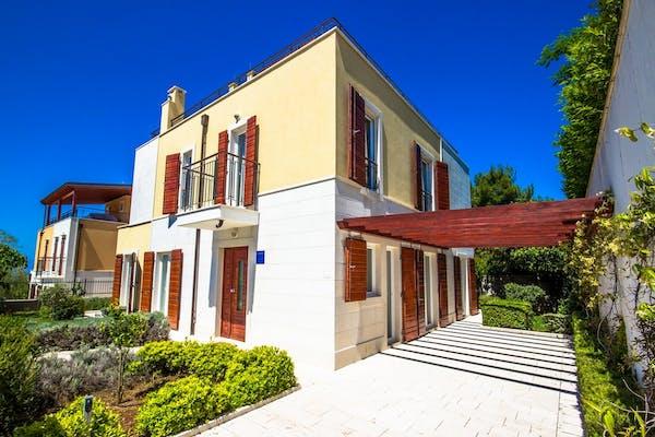 Side view of the villa Brazza