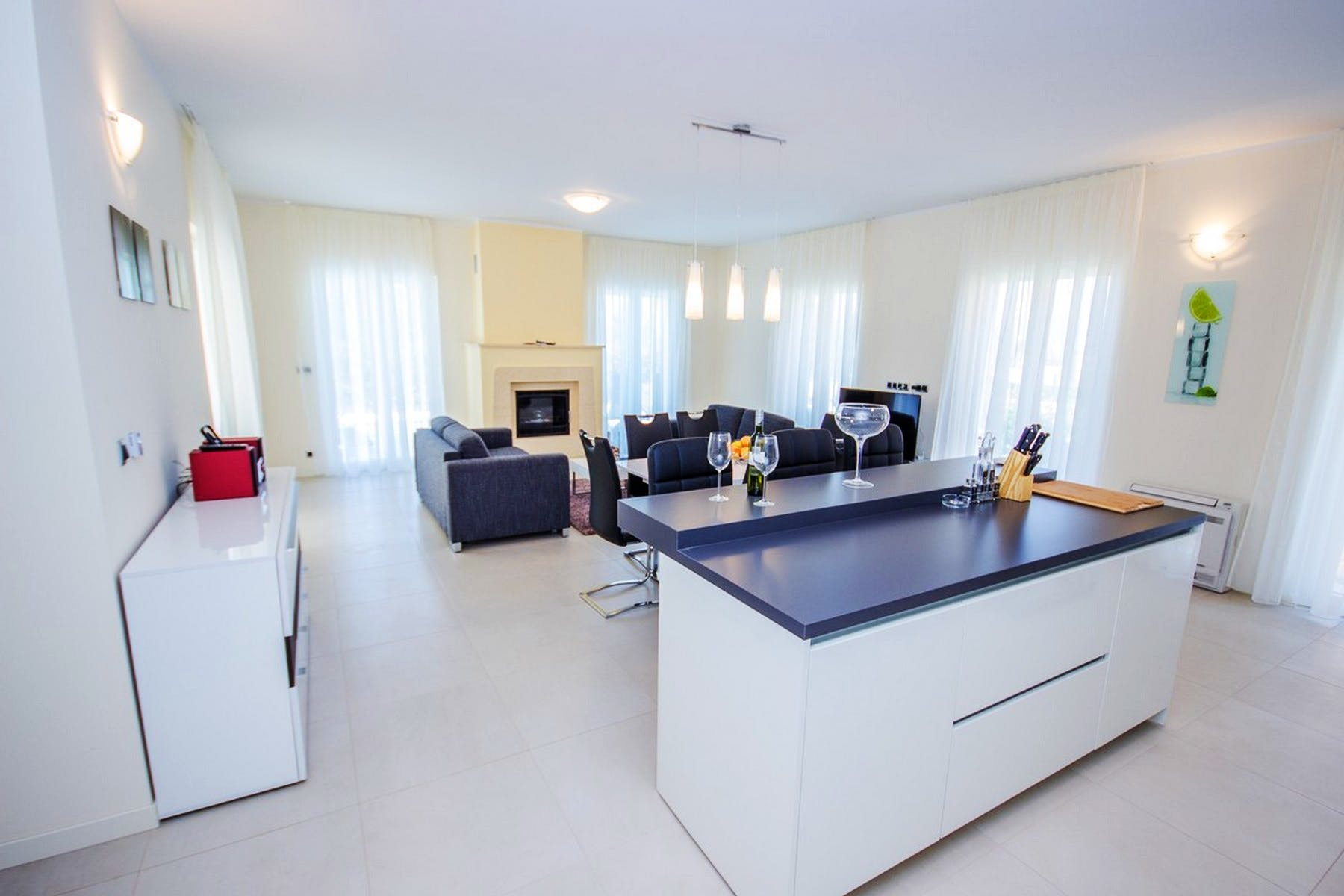 Modernly furnished living area