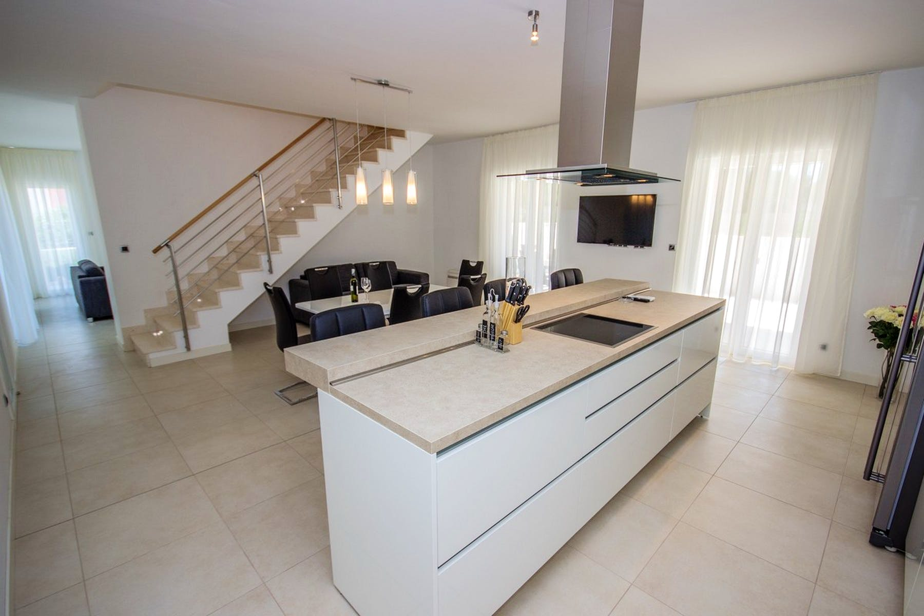 KItchen with an island counter