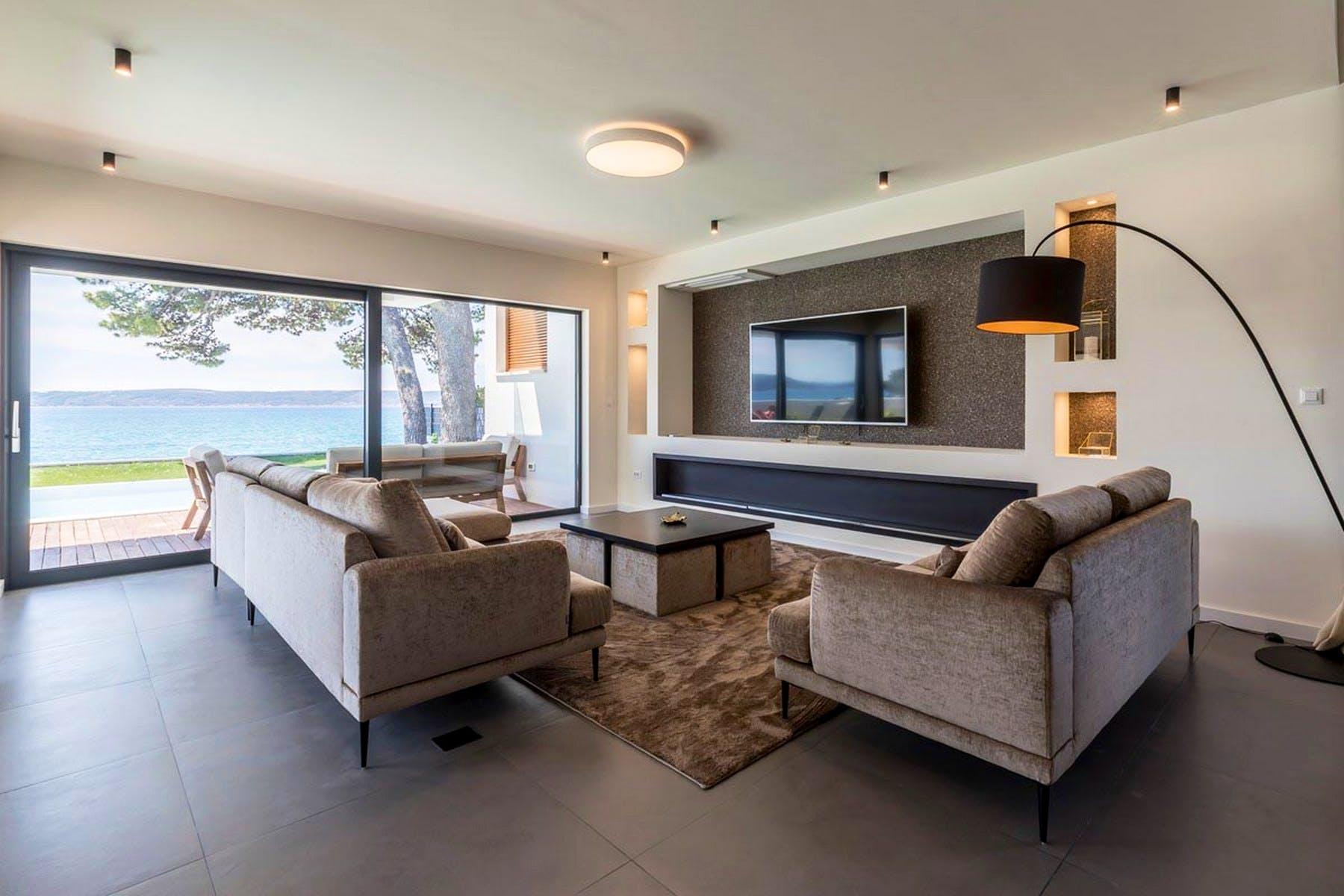 Spacious, open-plan living space