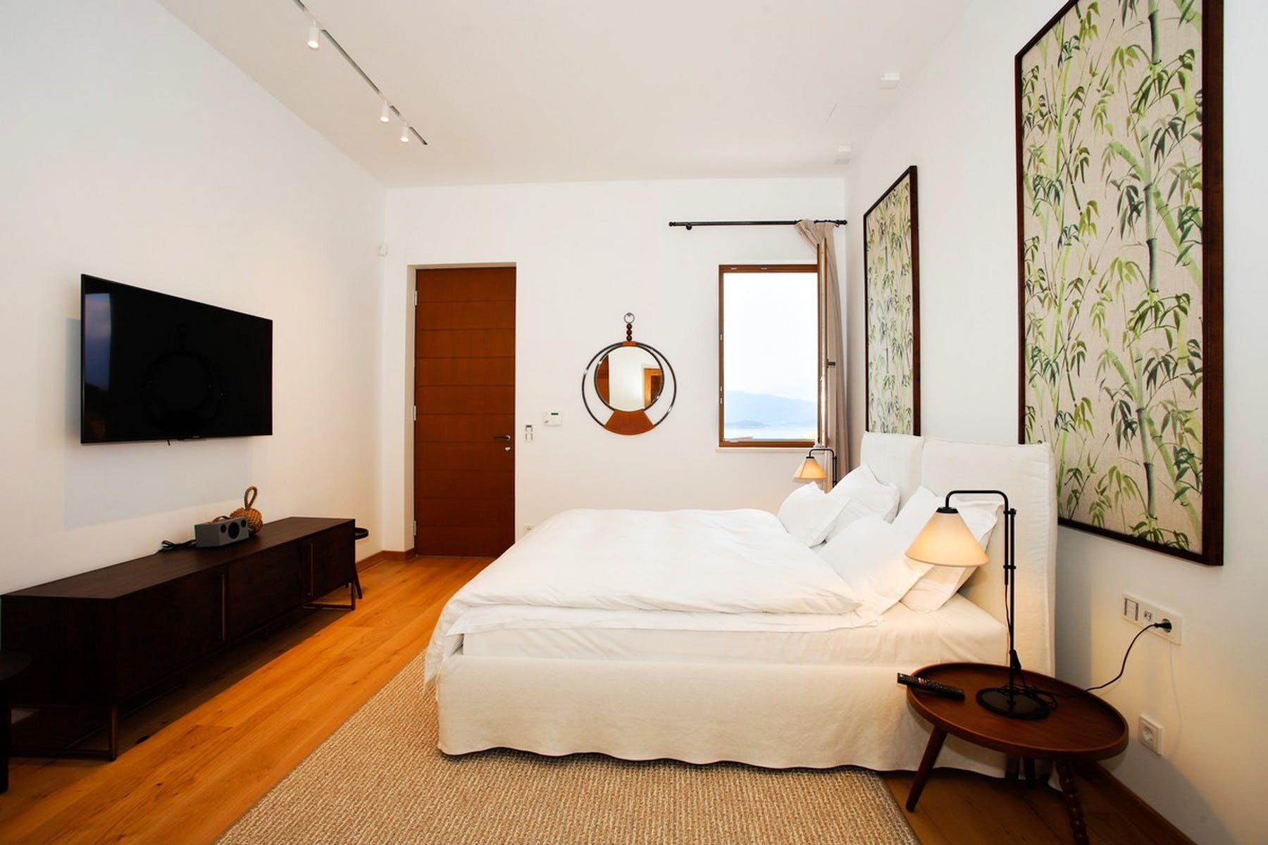 Double bedroom with seaview