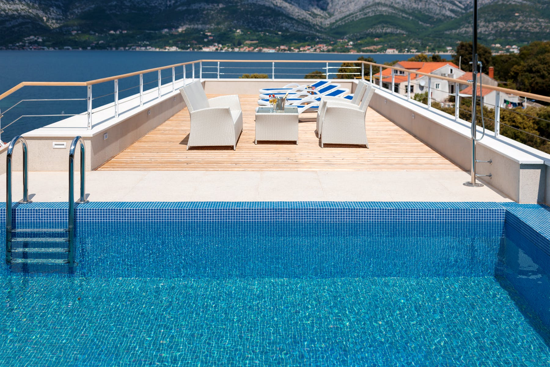 Villa's pool on the rooftop