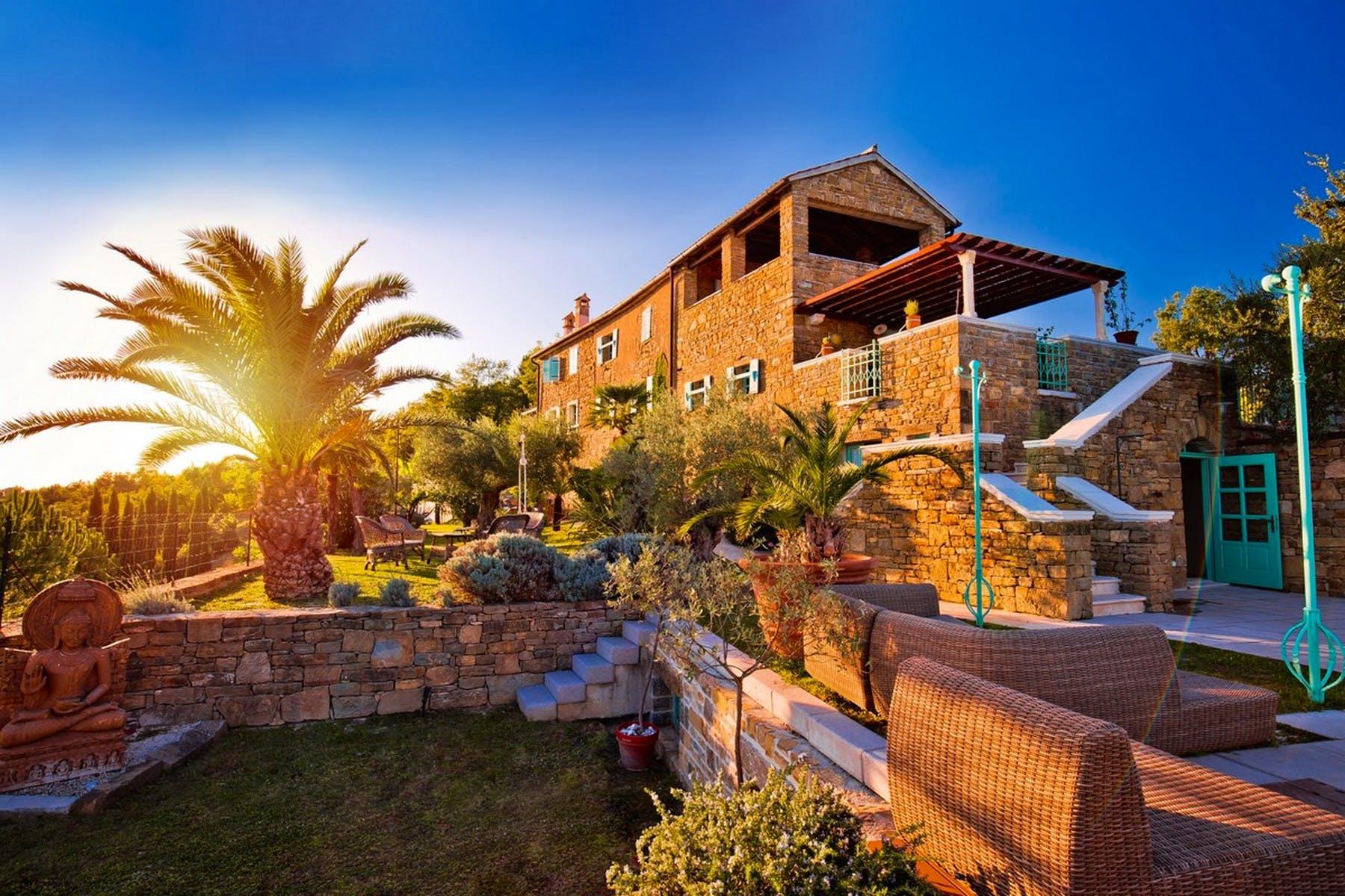 Villa Mirabella in the sunset