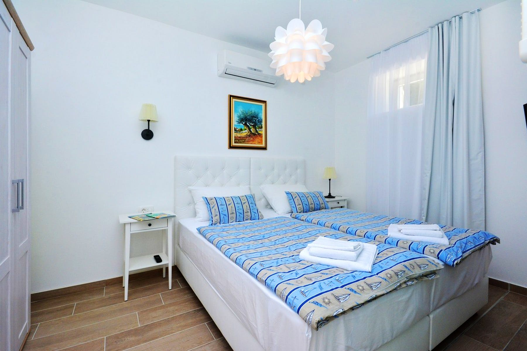 Modernly equipped bedroom