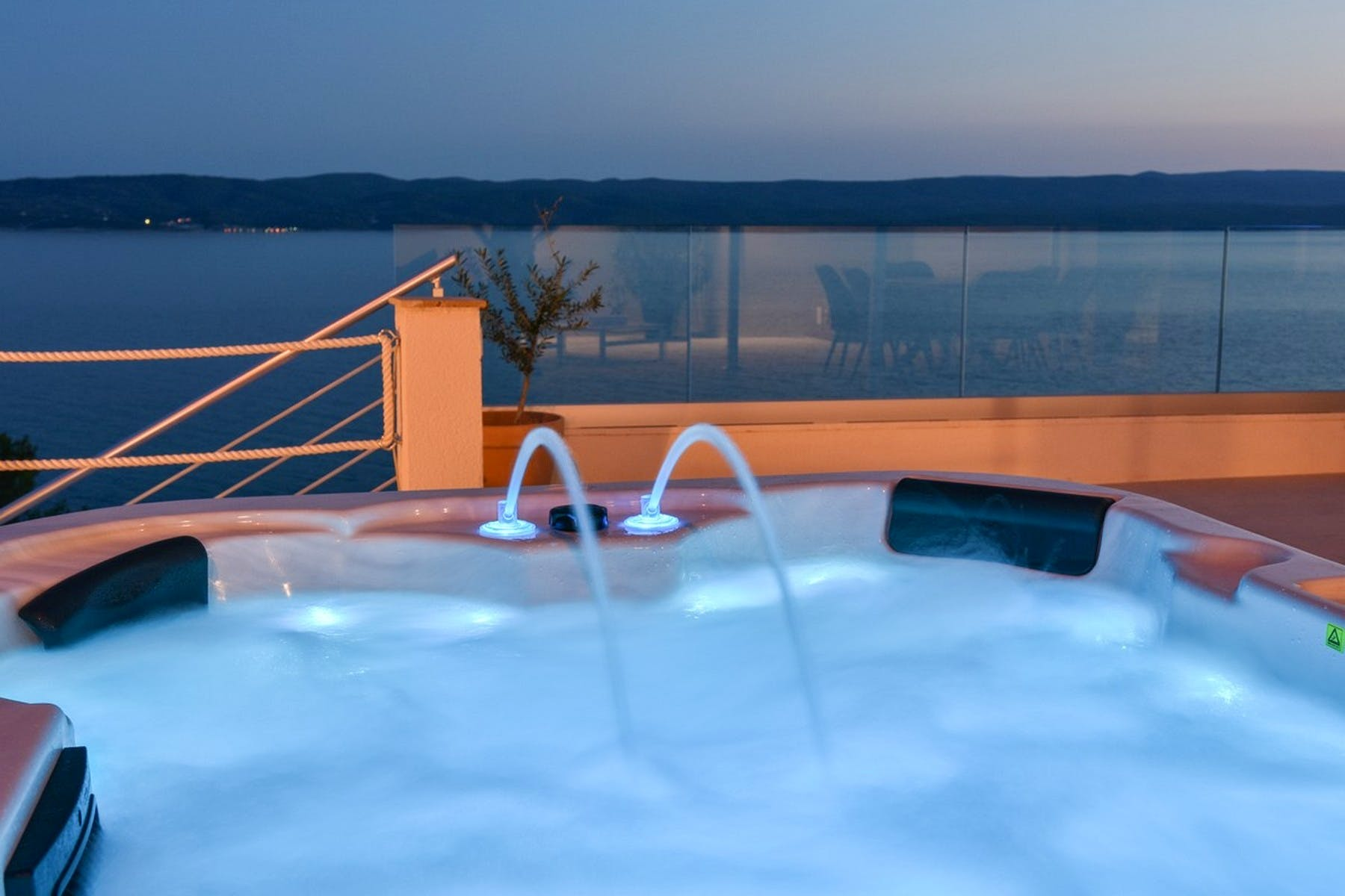 Jacuzzi in the sunset