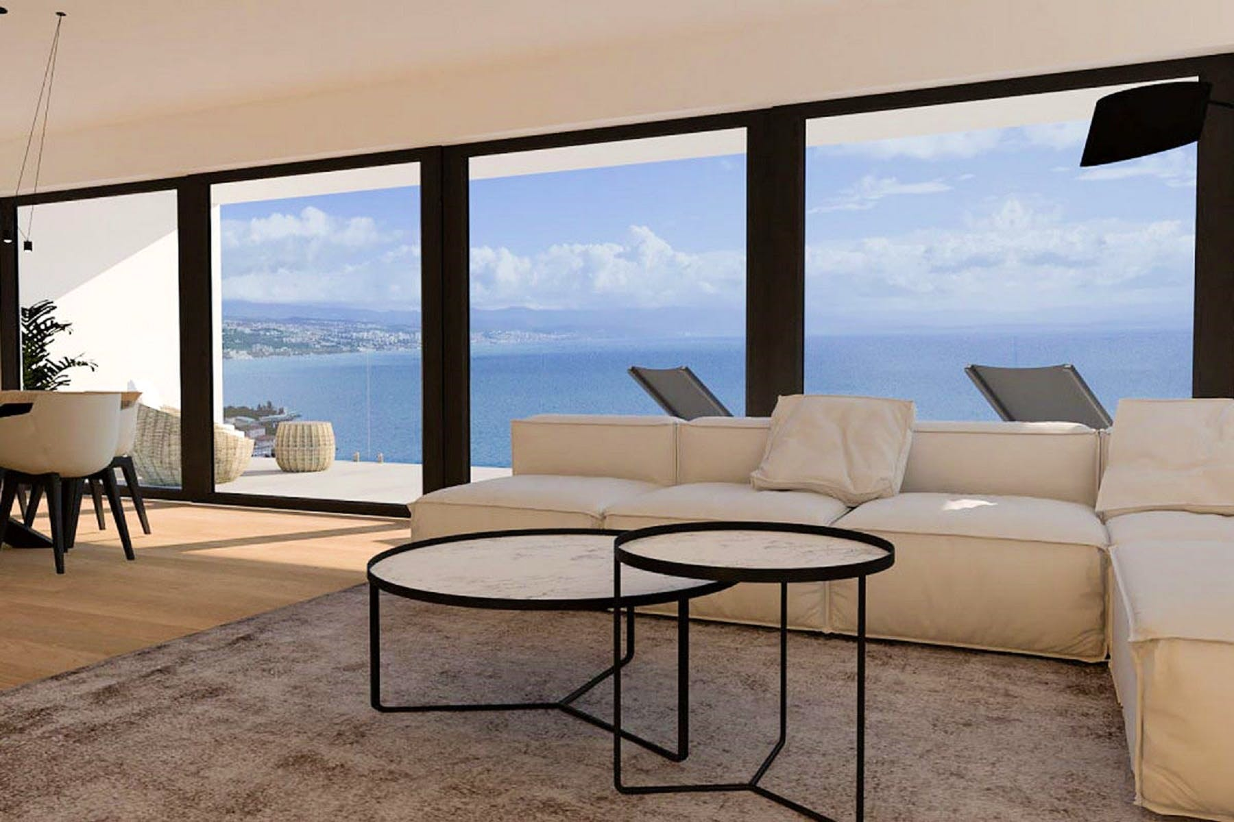 Living space with an amazing view
