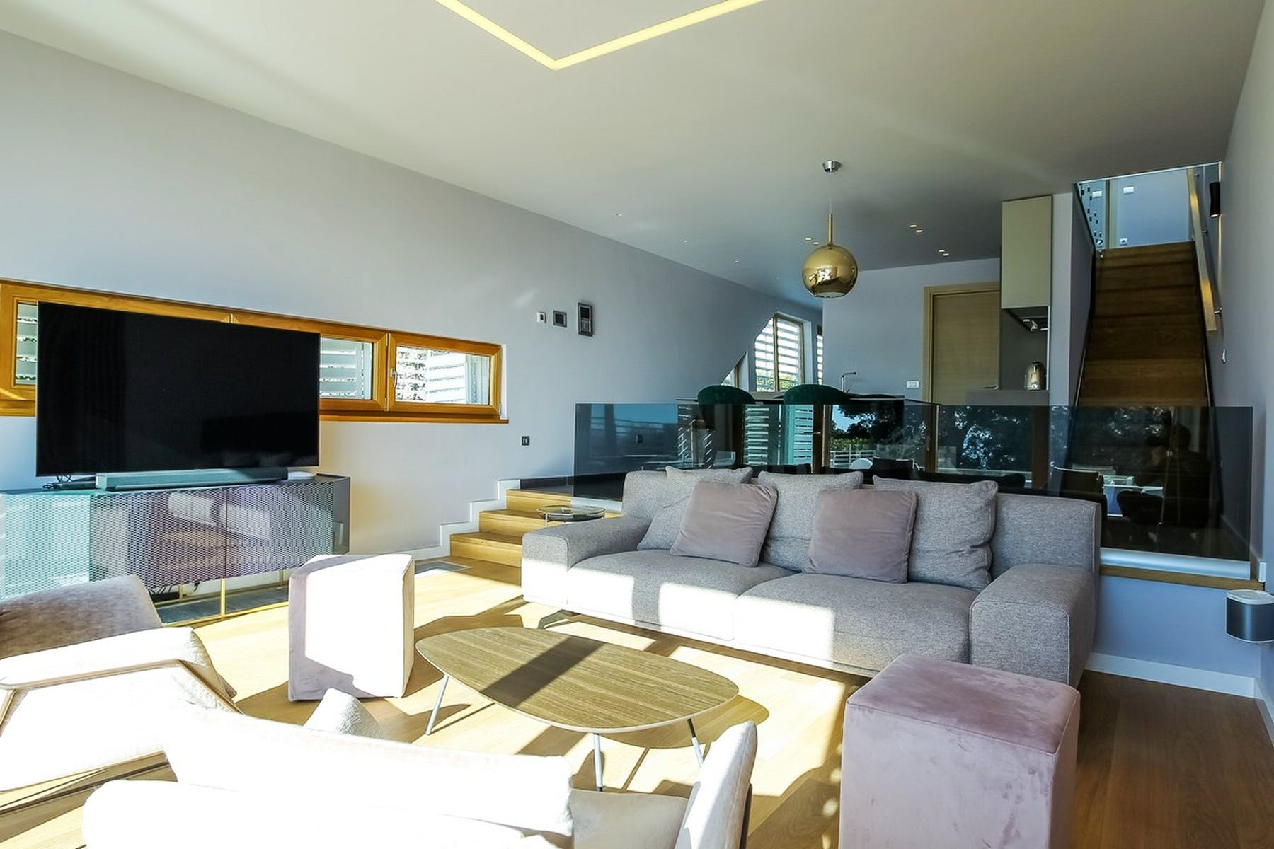 Open-plan concept living area