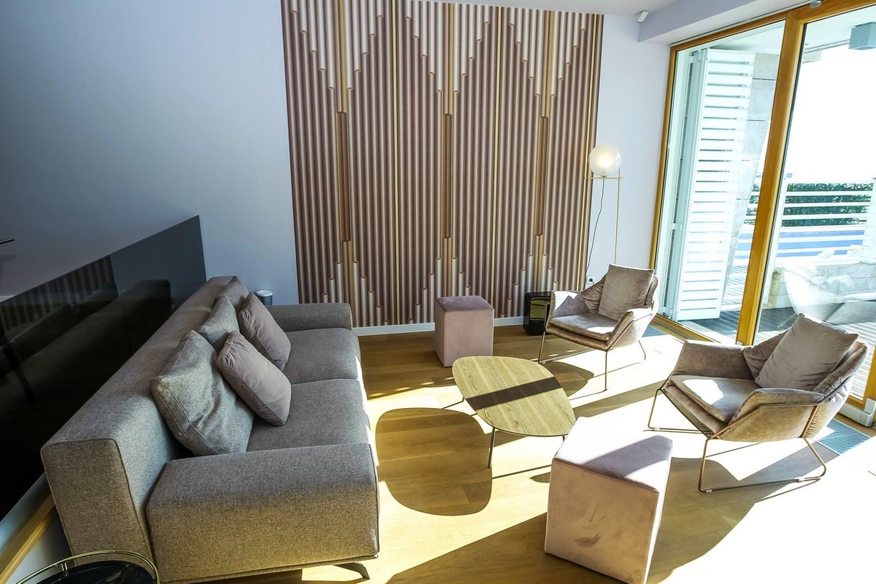 Comfortable sofa and chairs