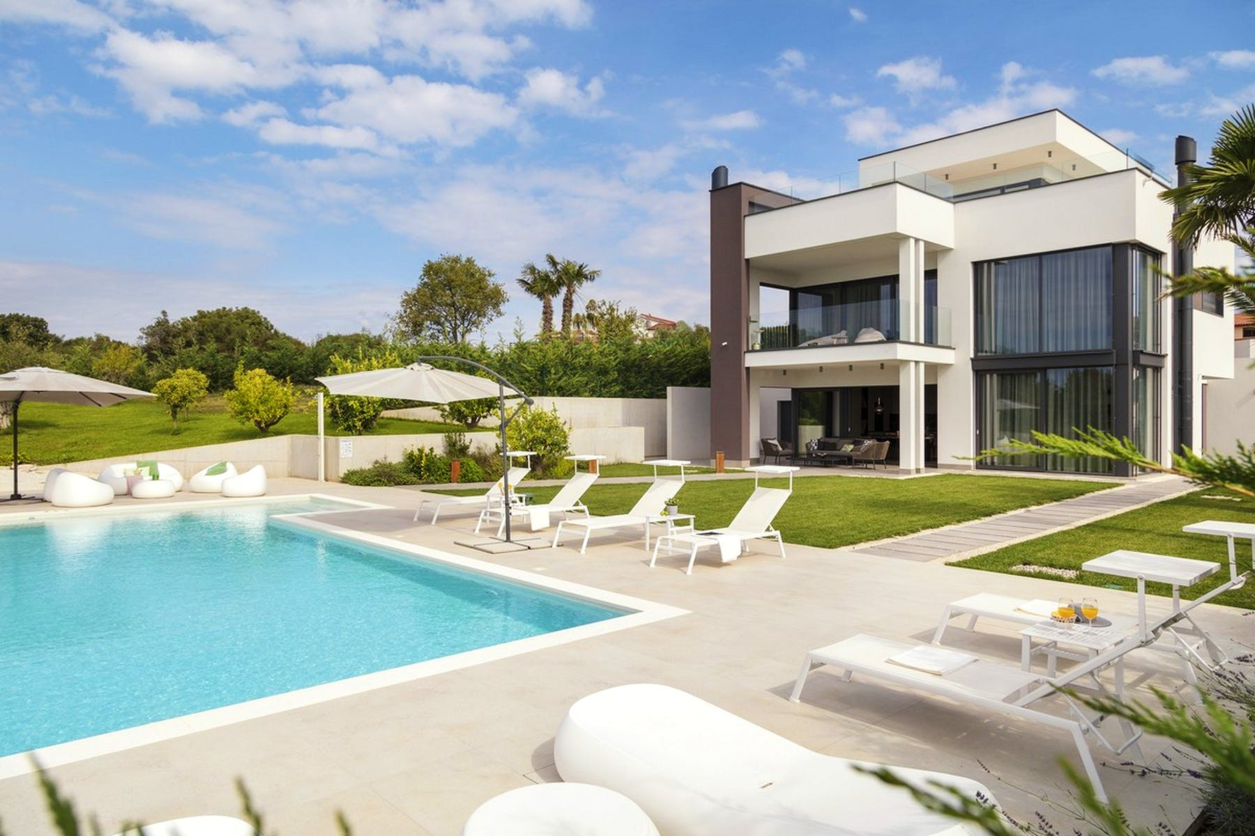 Modern villa with a swimming pool