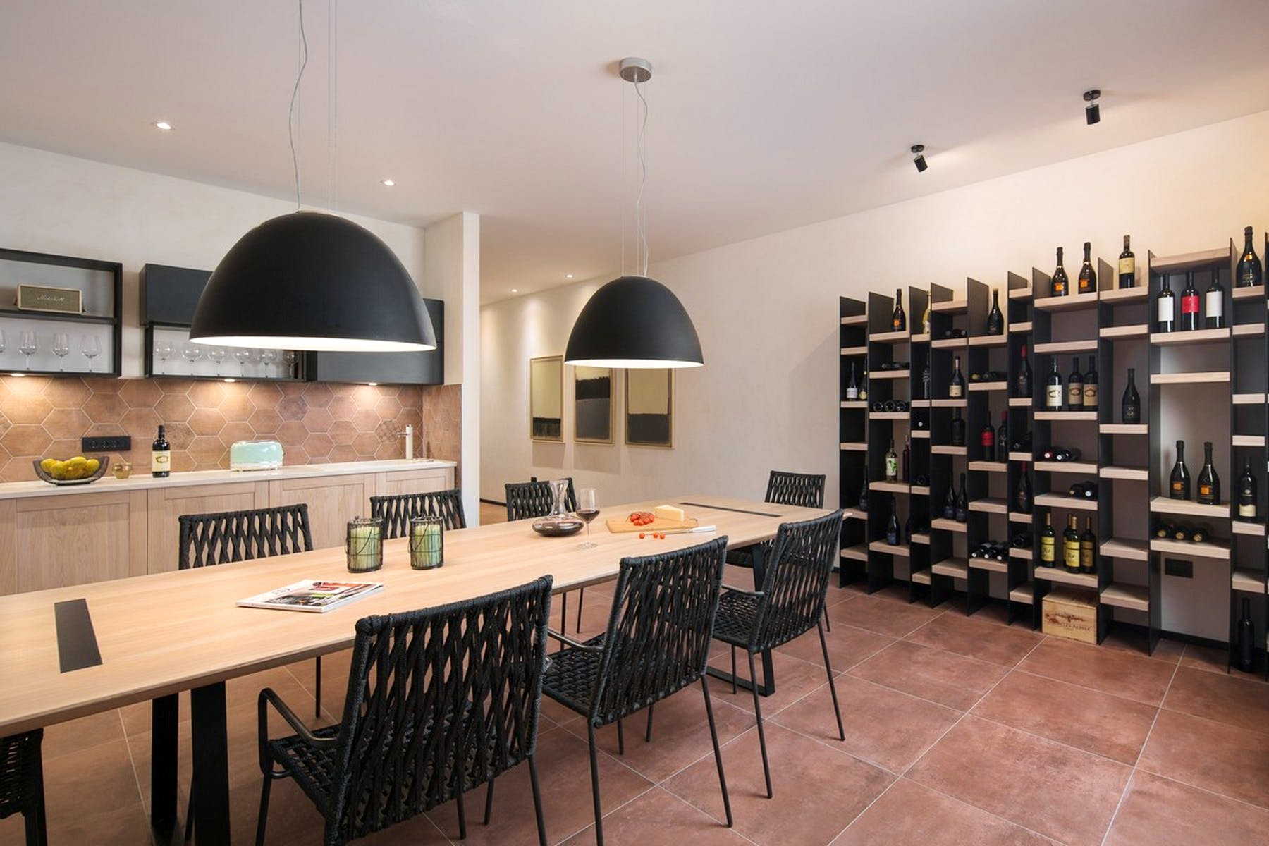Spacious wine cellar
