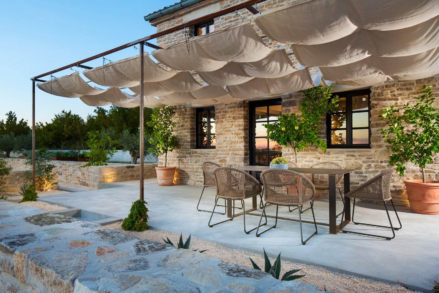 Spacious terrace of the villa