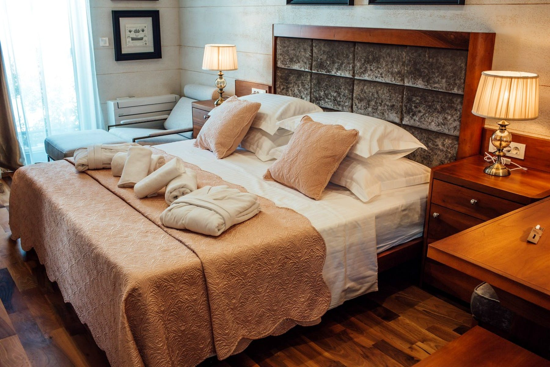 Big, comfortable bed