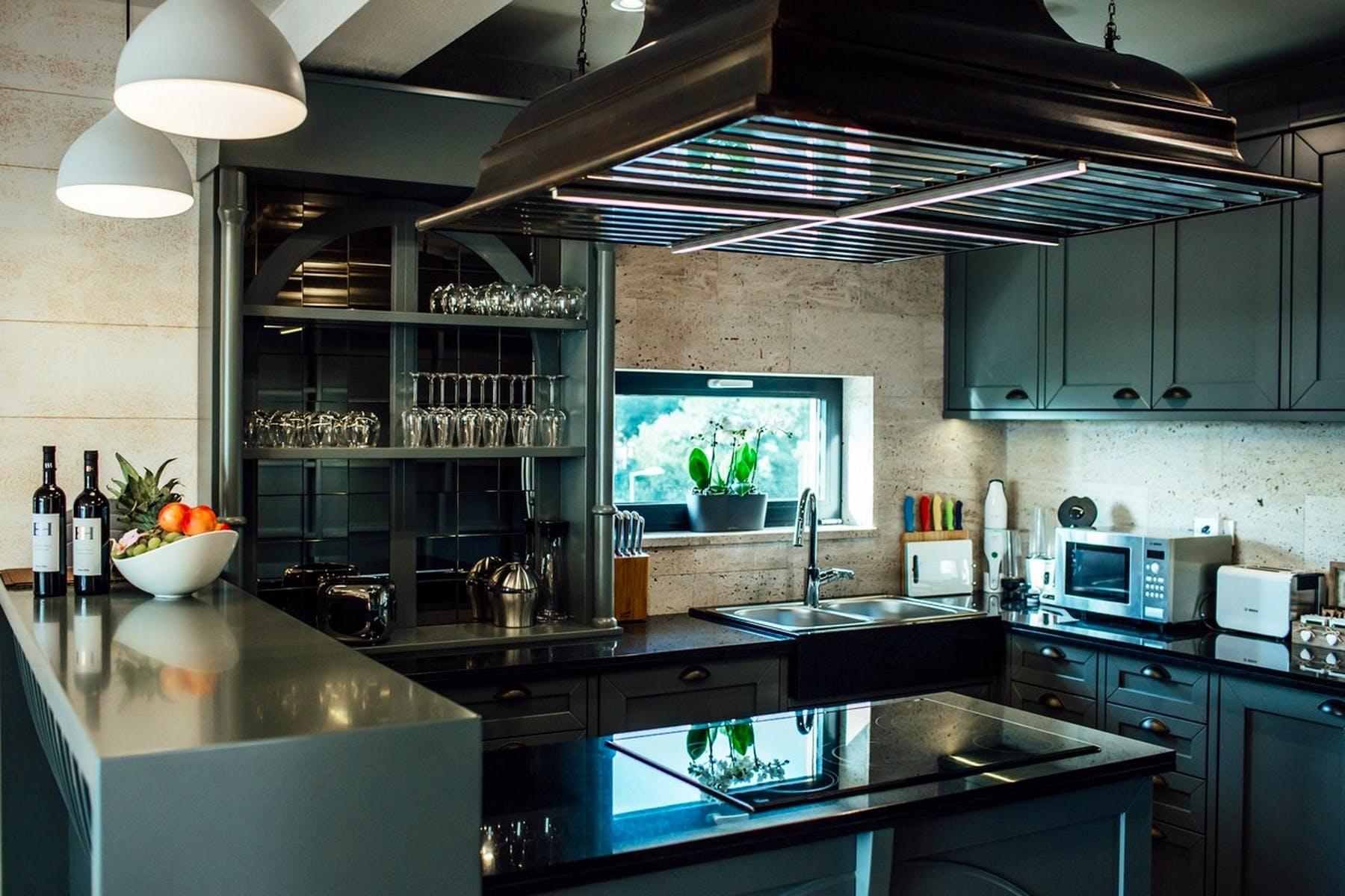 Modern design of the kitchen