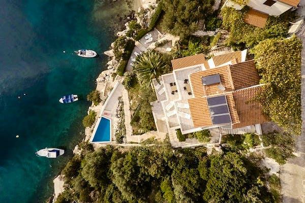 Pogled na vilu iz zračne perspektive