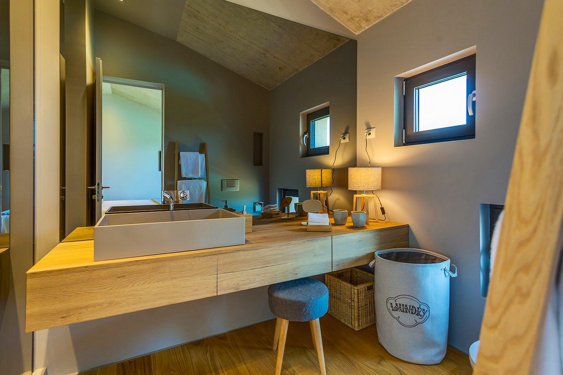 Modern furnishment of the bathroom