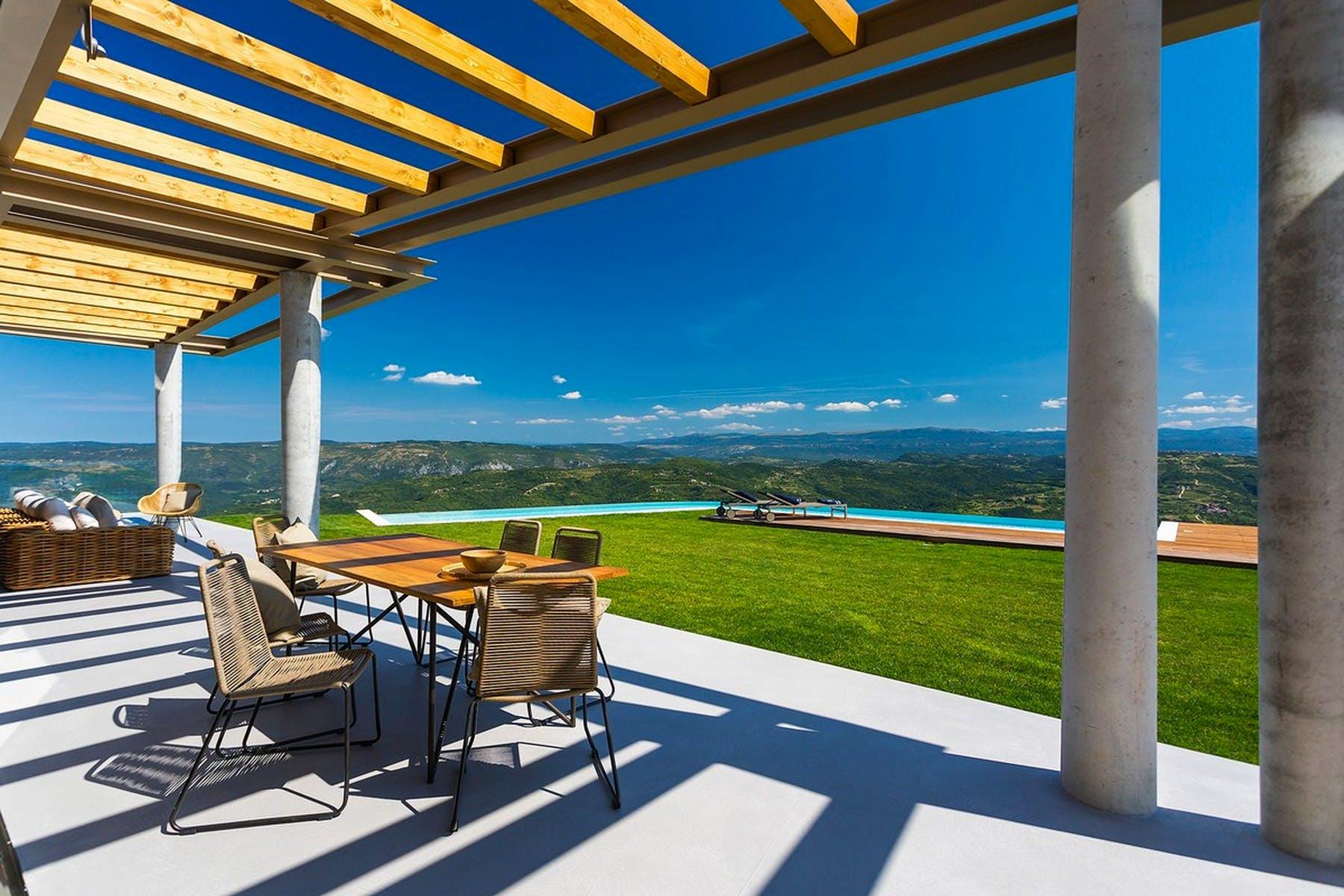 Beautiful outdoor lounge