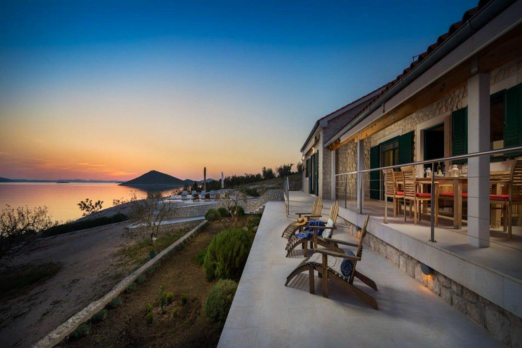 Villa in the sunset
