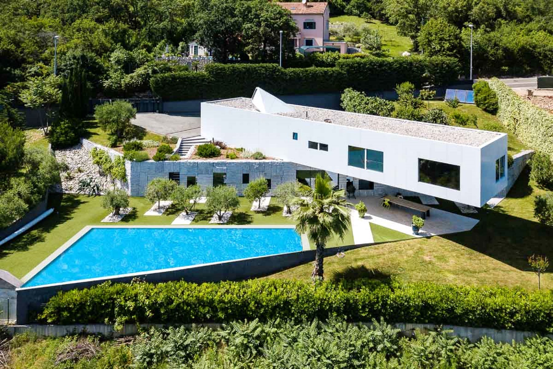 Modern property with a pool