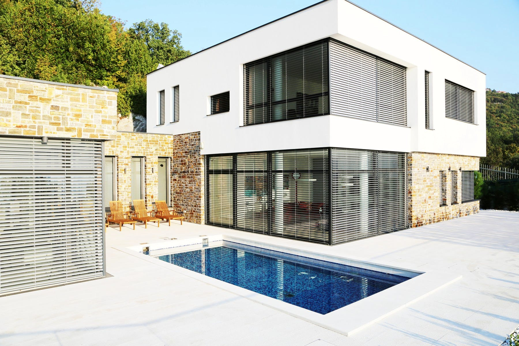 Modern villa with a pool