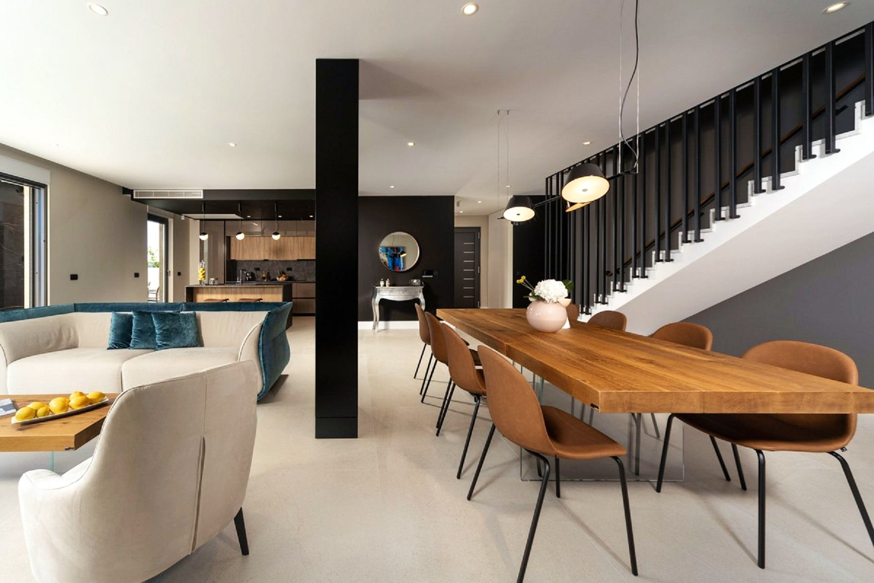 Transition to the dining area