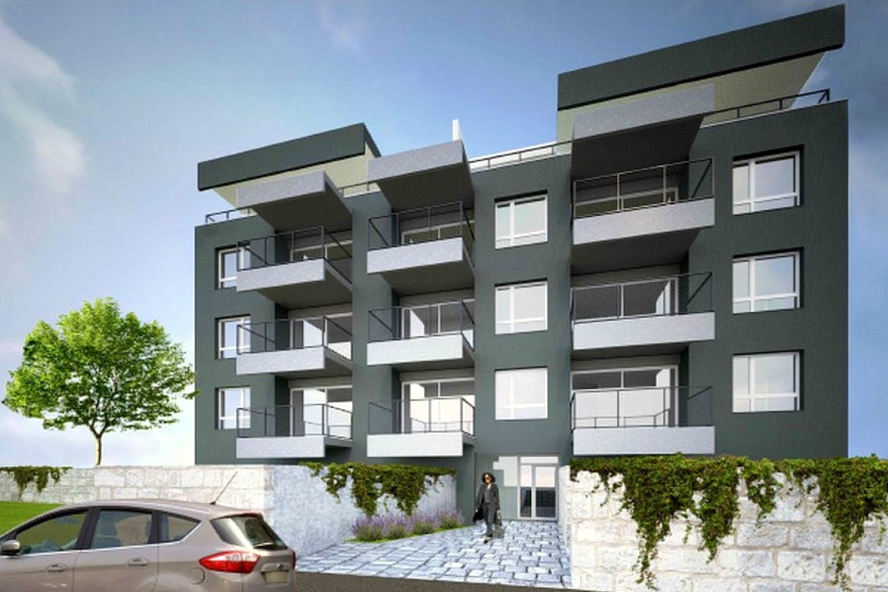 Modern building with high-end design