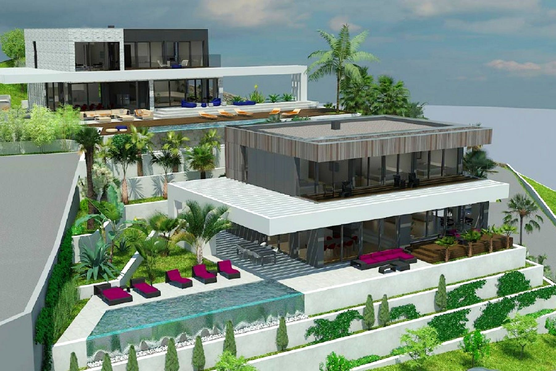 Attractive project for villa with sea view