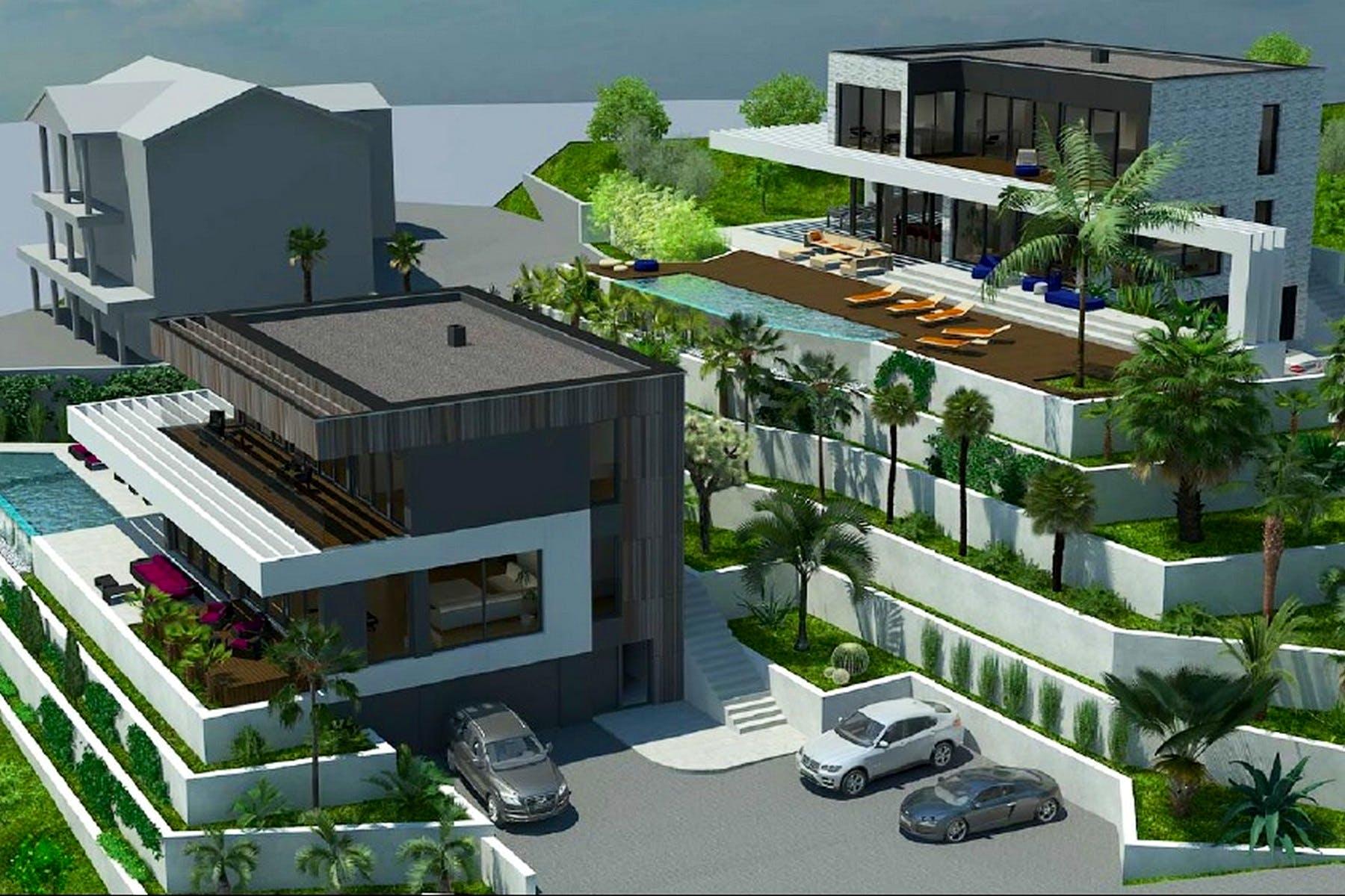 Contemporary villa design with sea view