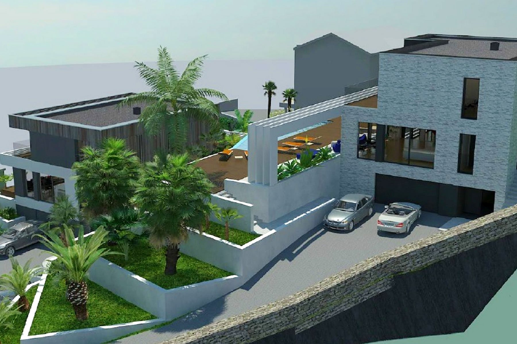 Building plot with a project for villa on Opatija Riviera