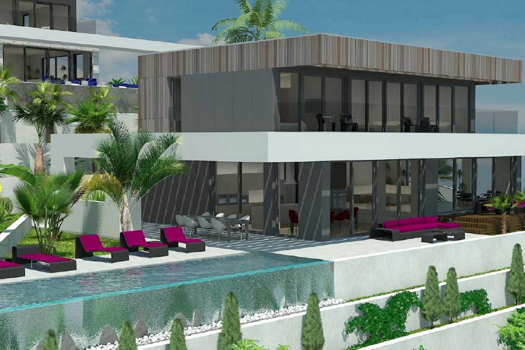 Project for construction of villa with modern amenities