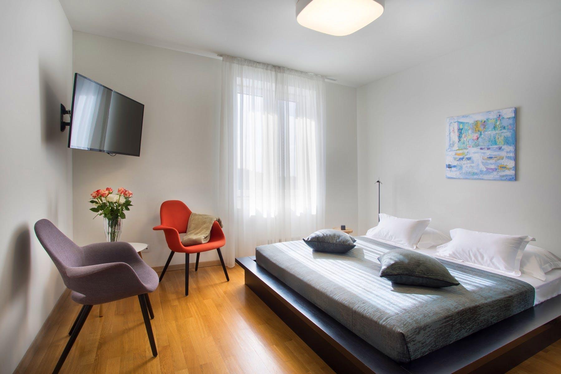 Svijetla i prozračna spavaća soba