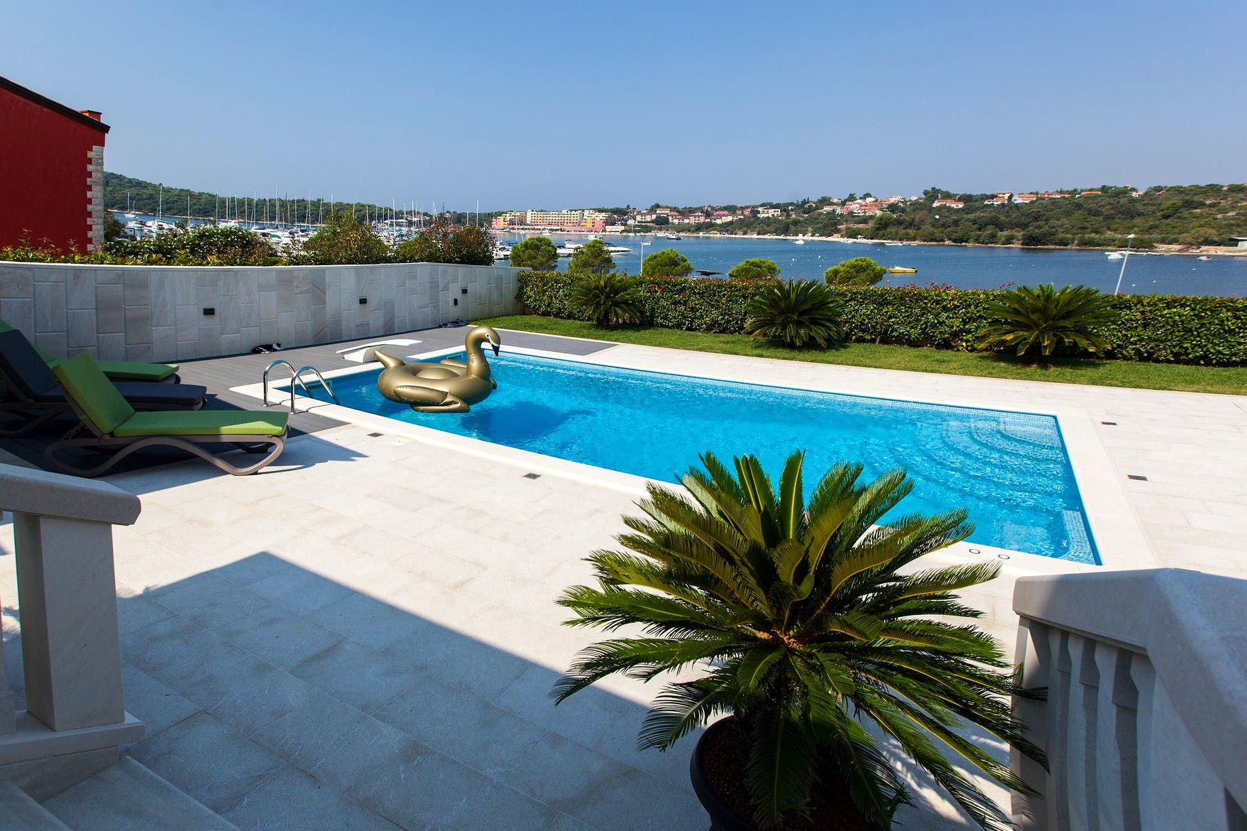 Outside area with the sea water pool