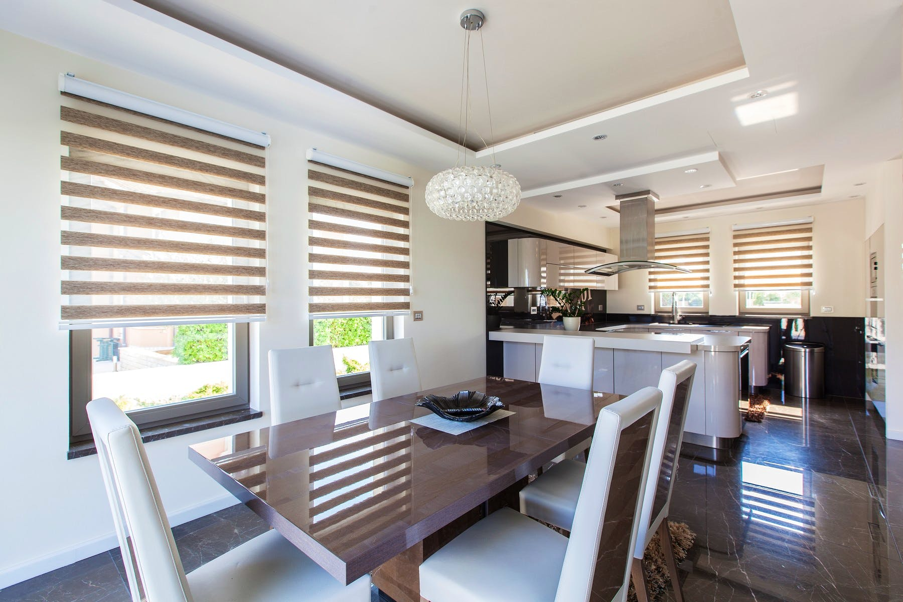 Modern style kitchen and dinning room