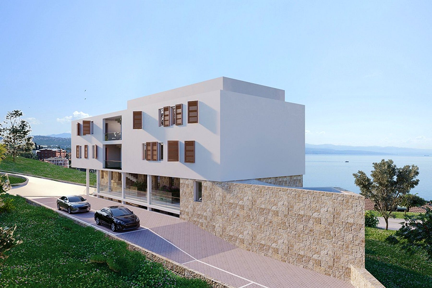 Newly-built apartments with sea view