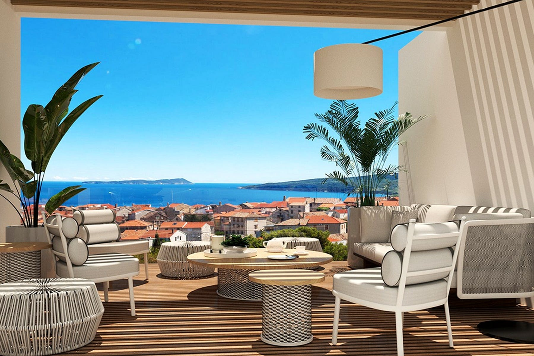 View over the Adriatic sea