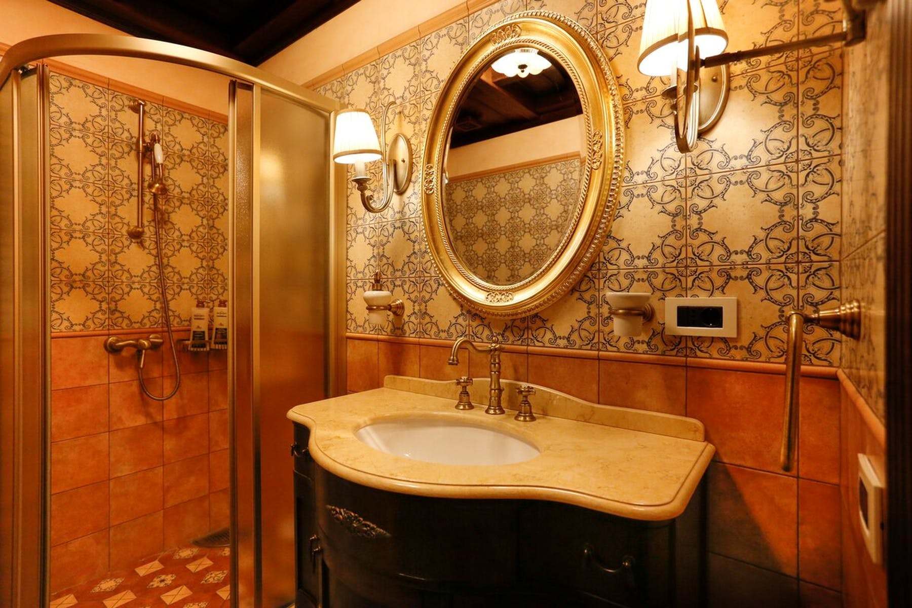 Bathroom with luxury amenities
